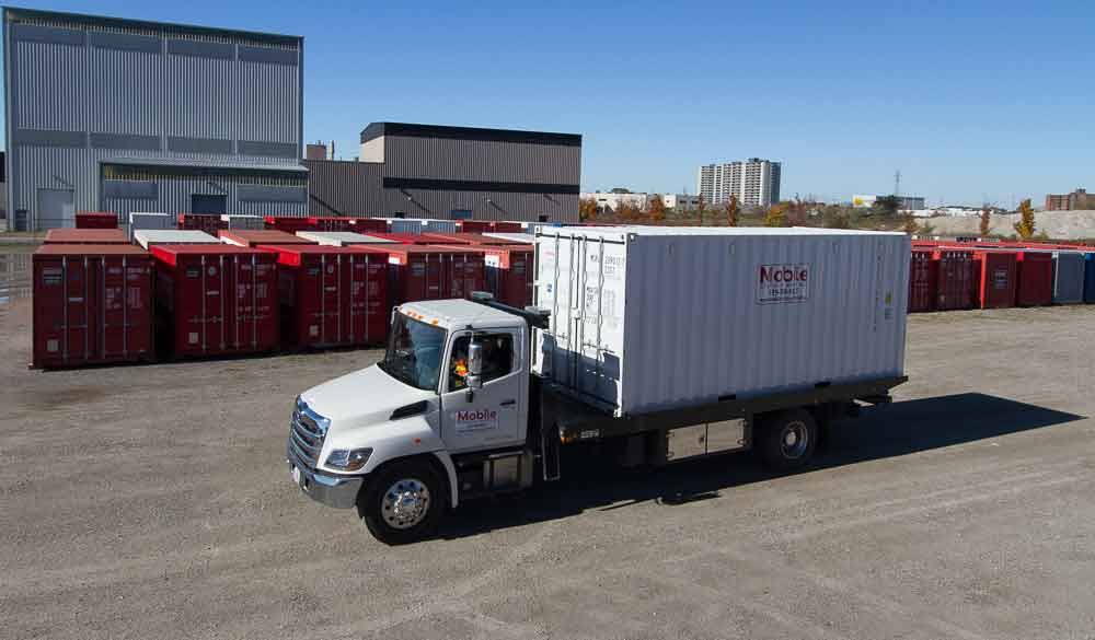 Image Of A Storage Container On A Truck