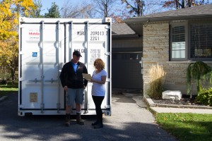 Portable storage for residential moving